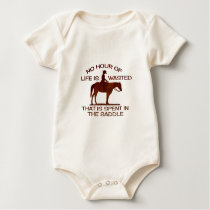 no hour of life is wasted baby bodysuit