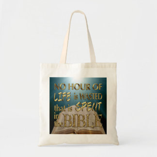 NO HOUR WASTED IN THE BIBLE Tote