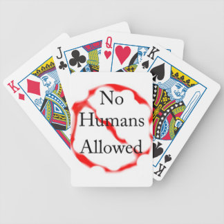 No humans allowed poker cards