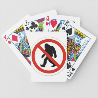 NO HUNTING BIGFOOT BICYCLE PLAYING CARDS
