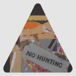 No Hunting Products Triangle Sticker