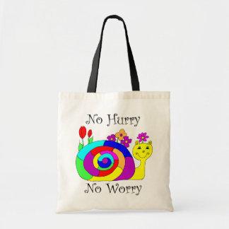 No Hurry, No Worry Slowpoke The Snail Tote Bag