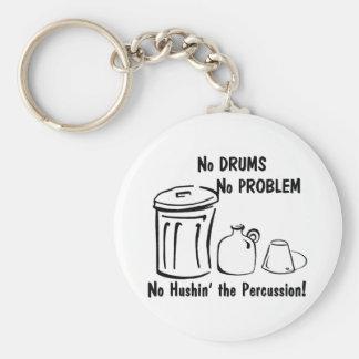 No Hushin the Percussion Keychain