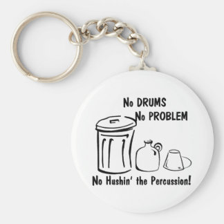 No Hushin the Percussion Keychains