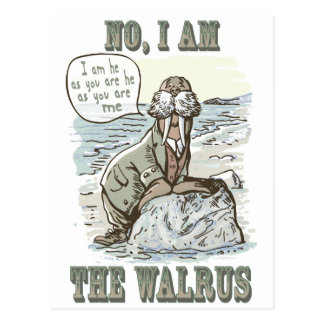 No, I am the Walrus Postcard