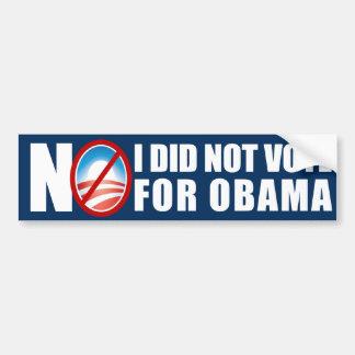 NO - I did not vote for Obama Car Bumper Sticker