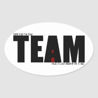 "No ""I"" In Team Stickers"