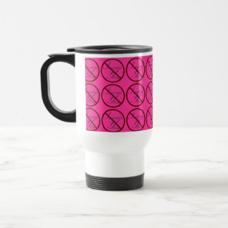 No, I mean Yes Tiled PINK 15 Oz Stainless Steel Travel Mug