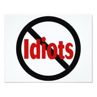 No Idiots Card