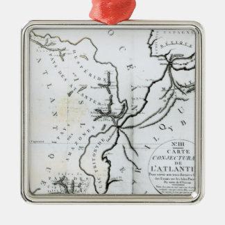 No III mapa conjetural de la isla de Ornamento De Navidad