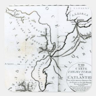 No III mapa conjetural de la isla de Pegatinas Cuadradases Personalizadas