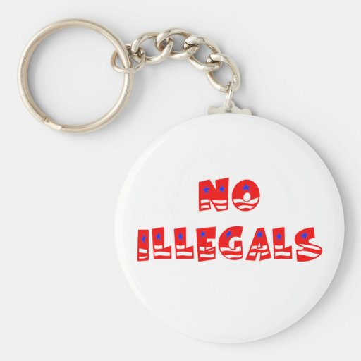 No Illegal Aliens Key Chain