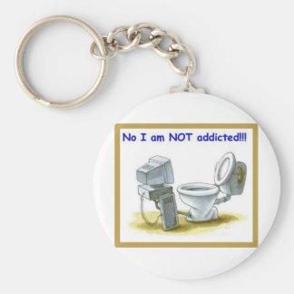 No, I'm Not Addicted Keychain