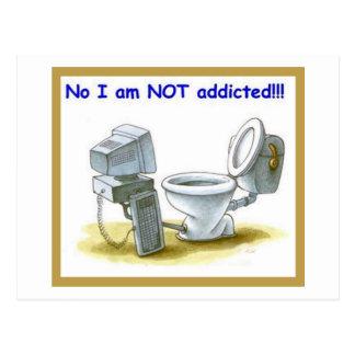 No, I'm Not Addicted Postcard