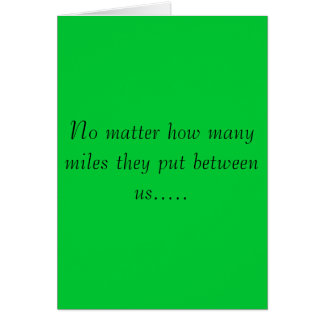 No importa cómo muchas millas… tarjetas