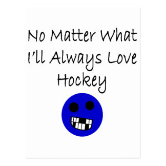 No importa qué amaré siempre hockey tarjetas postales