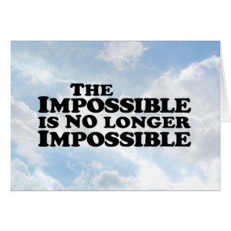 No imposible imposible - tarjeta de felicitación