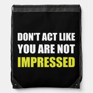 No impresionado mochilas