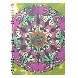 No impresionante 2 del diseño geométrico libreta espiral