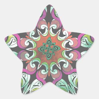 No. impresionante 2 del diseño geométrico pegatina en forma de estrella
