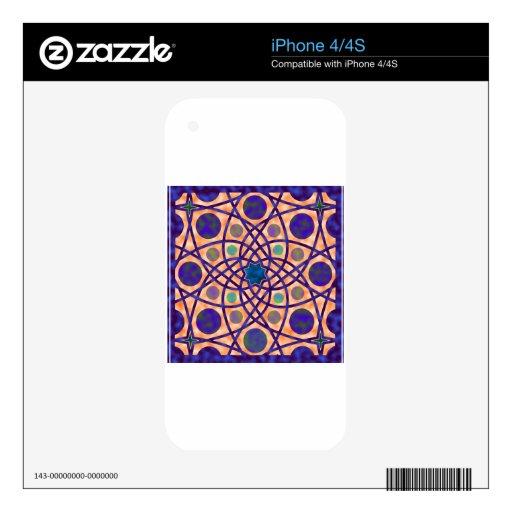 No. impresionante 3 del diseño geométrico iPhone 4 skins