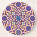 No. impresionante 3 del diseño geométrico posavaso para bebida
