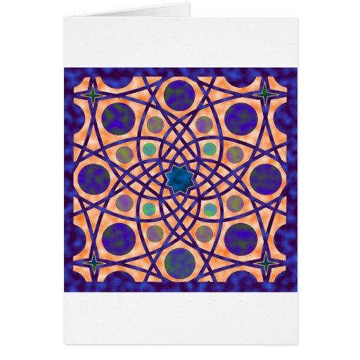 No. impresionante 3 del diseño geométrico tarjeta de felicitación