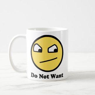 No impresionante no quiera taza