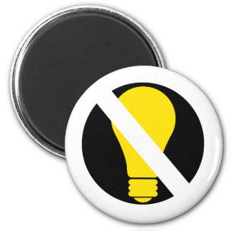 no incandescent bulbs magnet