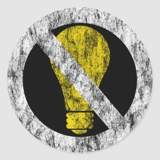 no incandescent bulbs round stickers