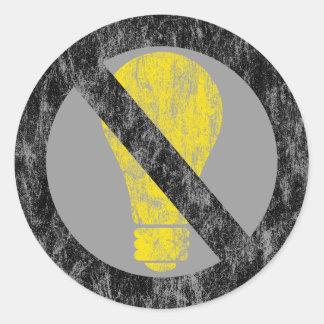 no incandescent bulbs stickers