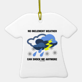 No Inclement Weather Can Shock Me Anymore Double-Sided T-Shirt Ceramic Christmas Ornament