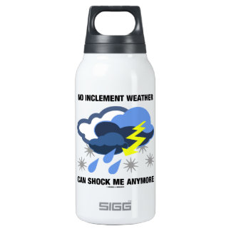 No Inclement Weather Can Shock Me Anymore 10 Oz Insulated SIGG Thermos Water Bottle