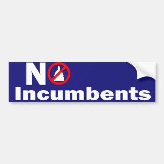 No Incumbents Car Bumper Sticker