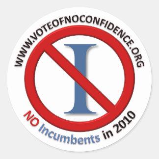 No Incumbents - Stickers