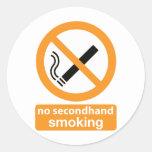 no indirectamente fumar 002 etiquetas redondas