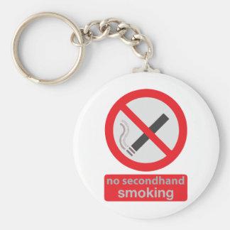 no indirectamente fumar 003 llavero redondo tipo pin