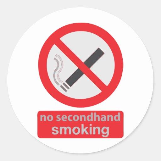 no indirectamente fumar 003 pegatinas redondas