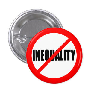 """NO INEQUALITY"" PINBACK BUTTON"