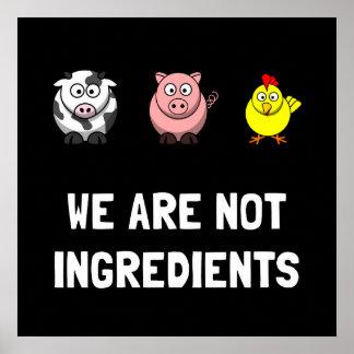 No ingredientes póster