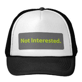 No interesado gorra