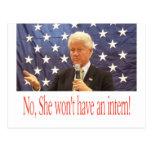 No intern for Hillary Postcard