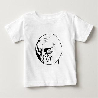 ¡NO! Internet cómico Meme de la rabia Playera De Bebé