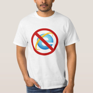 No Internet Explorer T-Shirt (Solid Strike)
