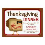 No invitaciones de Turquía de una cena de la Invitación 12,7 X 17,8 Cm