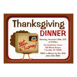 No invitaciones de Turquía de una cena de la acció
