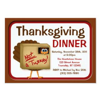 """No invitaciones de Turquía de una cena de la Invitación 5"""" X 7"""""""