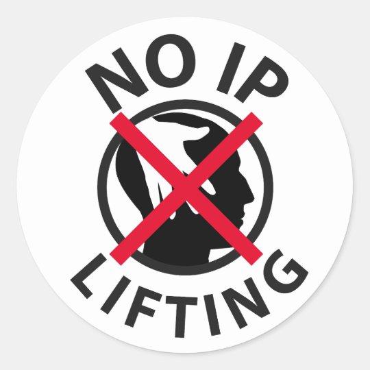 No IP Lifting Classic Round Sticker