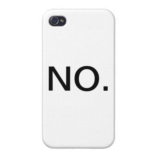 NO iPhone 4/4S CARCASA