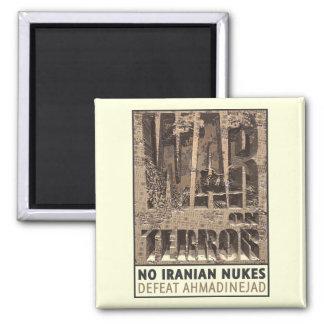 No Iranian Nukes 2 Inch Square Magnet